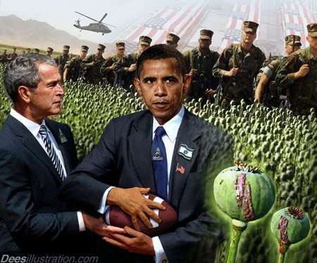 Whoever Obama passes the ball to will front for a US military protected heroin empire in Afghanistan