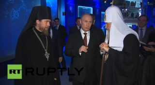 Putin and Patriarch Kirill exhibition