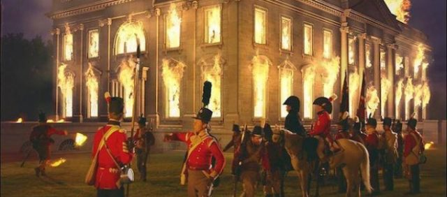 Redcoats burning down the American White House, War of 1812