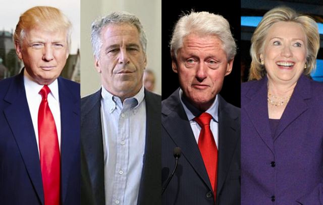 Trump, Jeffrey Epstein, and the Clintons – four noted American sex criminals