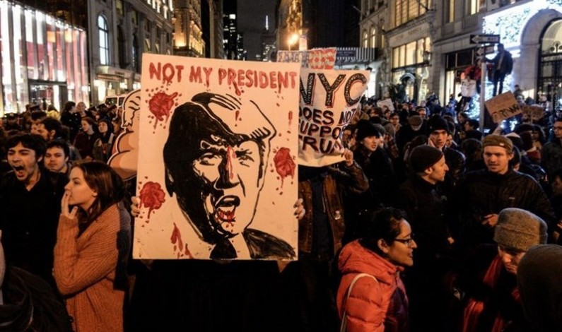 US Media Reports of anti-Trump protests are unreliable at best