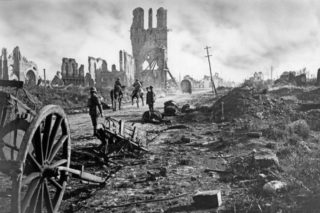 Ypres was heavily shelled by German forces during the war