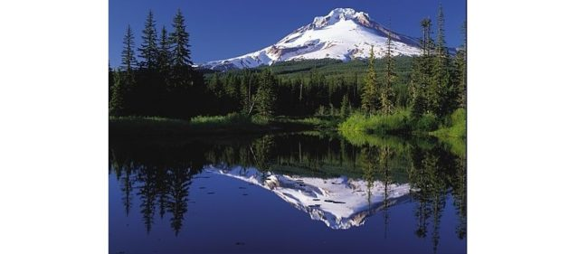 The seduction of Mirror Imaging: Mount Hood reflected in Mirror Lake, Oregon