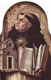 t. Thomas Aquinas (1225-1274) laid out the conditions when war could be justified long before nuclear weapons were imagined - Carlo Crivelli (1435–1495) [Public domain], via Wikimedia Commons