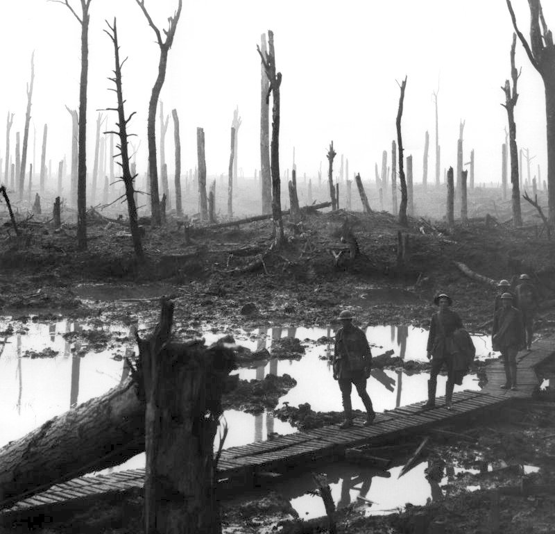 Ypres Battlefield during WW1.