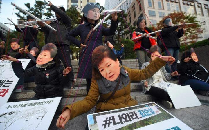 """""""Down with Park Geun-hye!"""""""