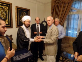 VT as guest of the Grand Mufti of Syria, Sept. 2015...Jim Dean Archives