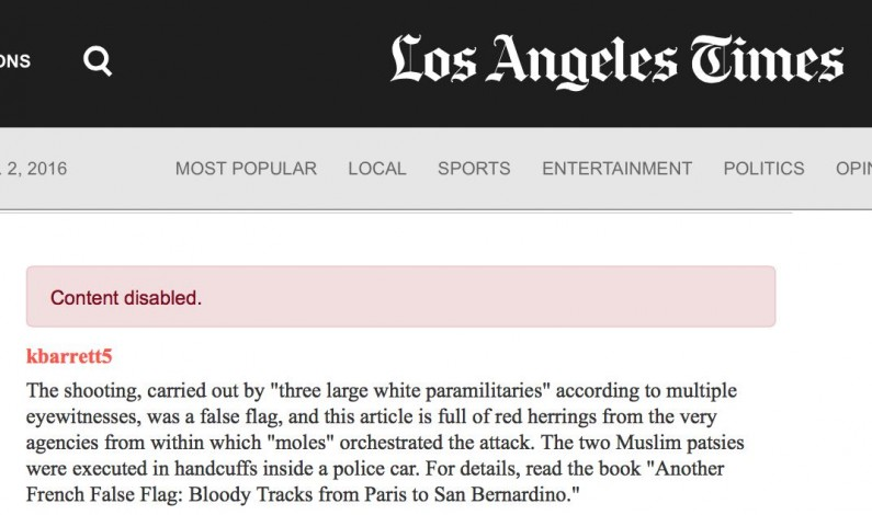 LA Times suppresses truth on San Bernardino false flag