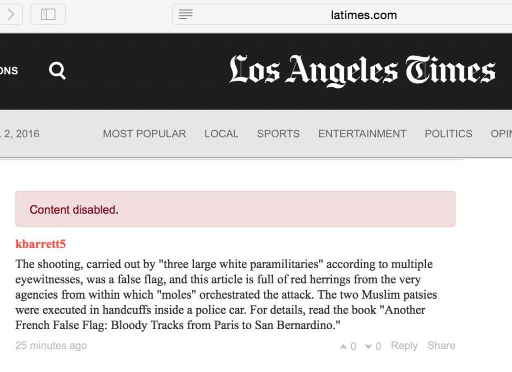 "The LA Times ""fake news"" story scripted by the false flag perps sanctifies the long-debunked Official Conspiracy Theory, which is now a ""public myth"" that we are not allowed to question."