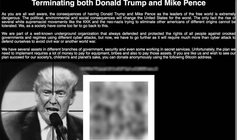 Fake News: InfoWars Reports Fake Trump Assassination Website