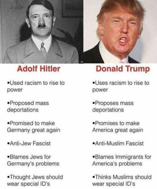 Hitler and Trump comparison