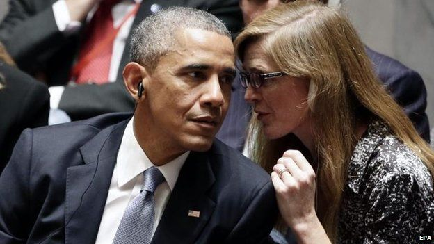 """""""Hey, Bro. My husband says you have to make a stupid case for invading Syria."""""""