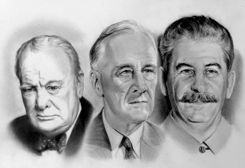 The three amigos of the twentieth century.