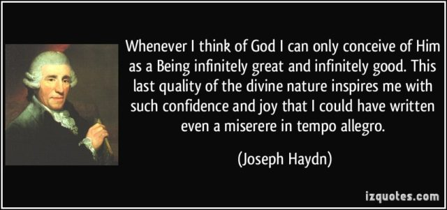 """The greatness of God: """"Haydn in plain sight!"""" So why all the shrunken idols?"""