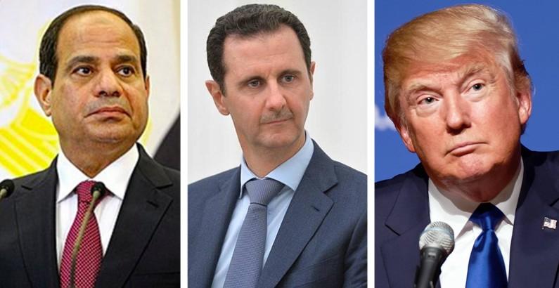 Trump tells Egypt's Sisi that Assad is a brave man fighting terrorism