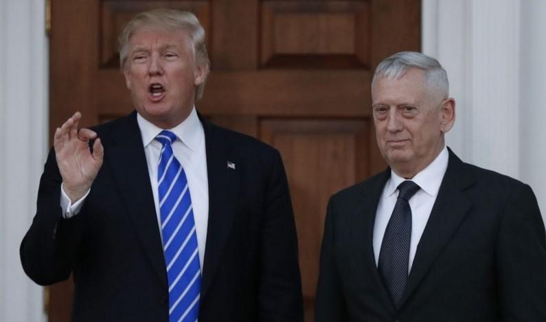 Mattis Dumps Trump on Israeli Capitol