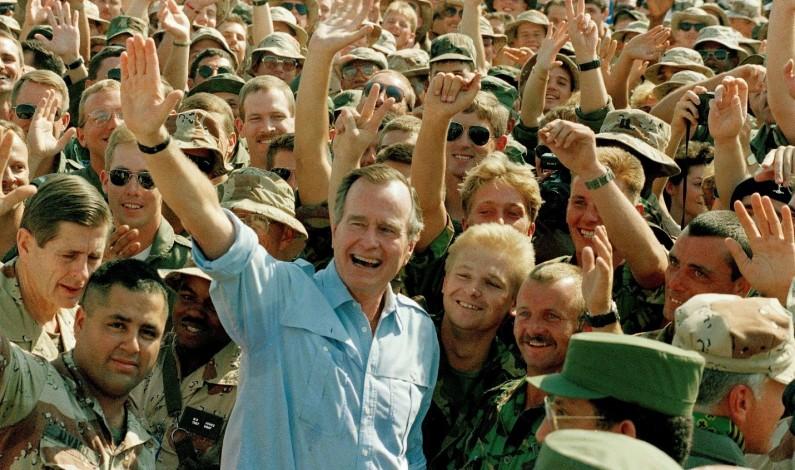 Bibi, Trump, Assad, Saddam & Fink's Bar