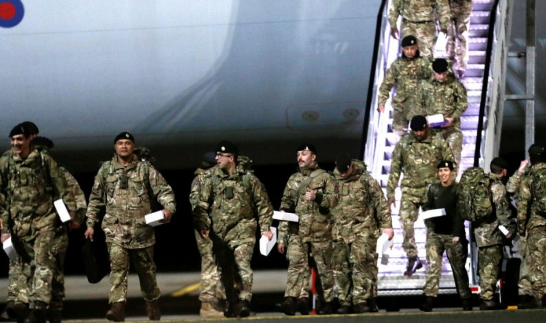 British troops in Estonia to counter Russia