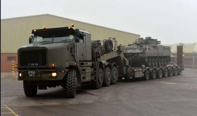 43 American tank transporters, vehicles arrive to Manbij outskirts