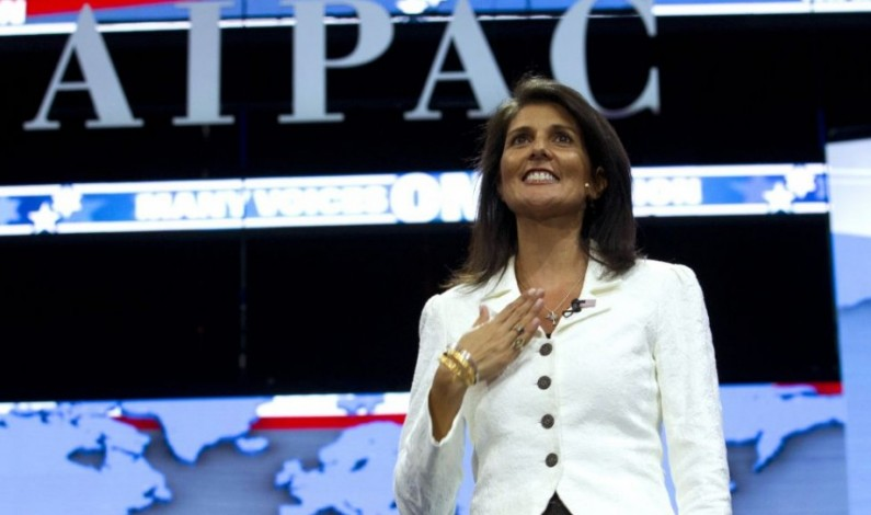 "Times of Israel: Nikki Haley ""A Zionist Star"" Shines for AIPAC"