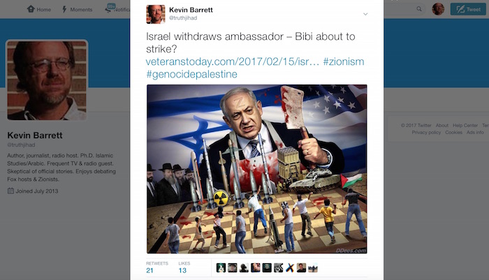 Twitter, pressured by Jewish group, cleansing internet of anti-Netanyahu material