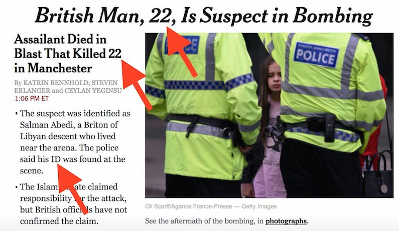 "Manchester false flag: ""Man, 22, kills 22 on May 22"""