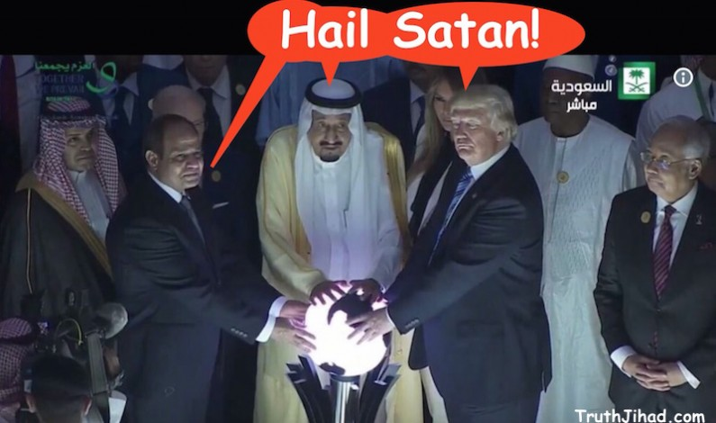 """One Orb to Rule Them All"": Trump channels Antichrist in Riyadh"