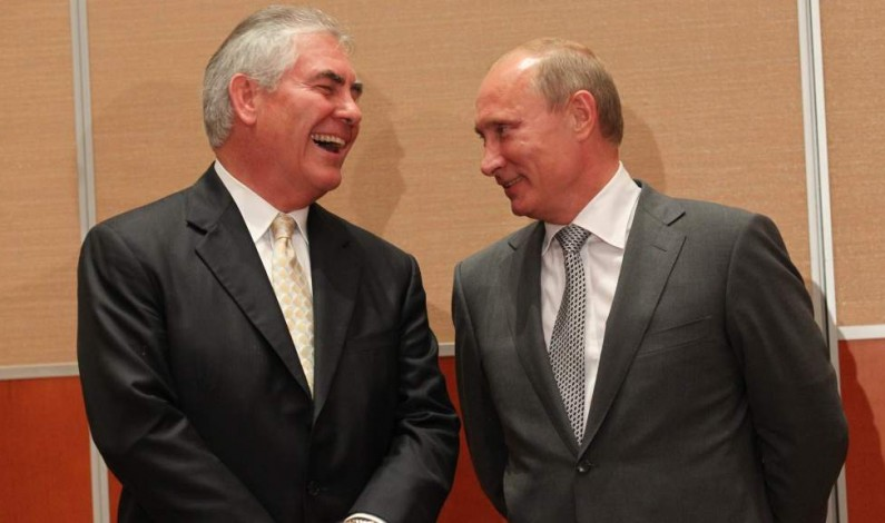 Rex Tillerson trivializes the US-Russia geopolitical freeze