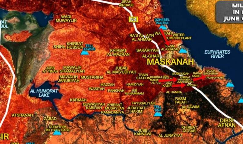 Syrian Army encircles Maskanah – Palestinian Liwa Al-Quds attacks from Khanasser Road