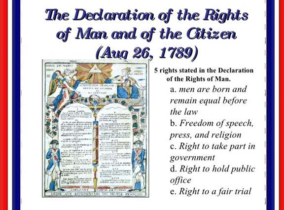 similarities between the declaration of rights of man and citizen and the us bill of rights