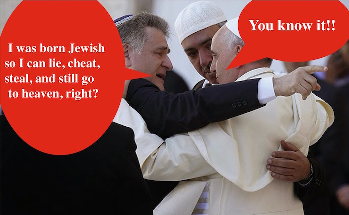 """Converted Jew's letter to Pope Francis"": Is this Fake News?"