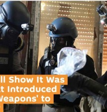 'History Will Show It Was the US That Introduced Chemical Weapons' to Syrian War