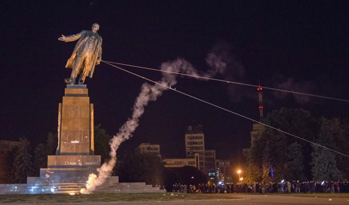 All statues of Lenin pulled down across Ukraine