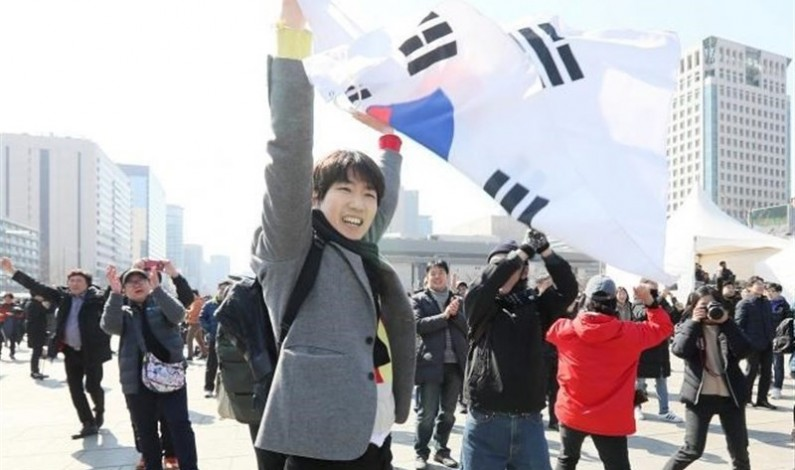 Thousands March in Support of Ousted South Korean Leader