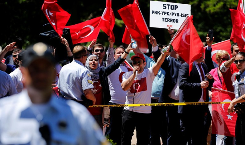 15 Erdogan bodyguards indicted for beating pro-Kurdish protesters during his US visit