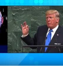 Trump UN speech drooling with Deep State propaganda