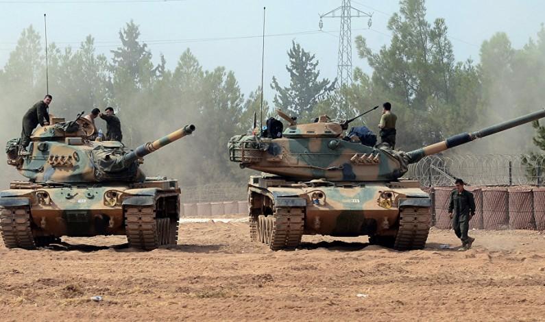 Turkish forces entering Syria's Idlib province
