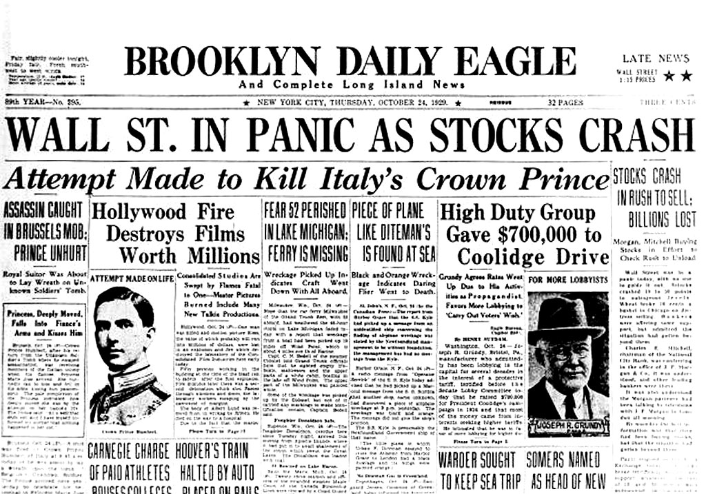 New York 1929: On this Day in History, stock market crashes launching Great Depression ...