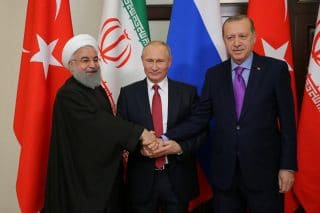 Jim W. Dean - The post ISIS-defeat shadow-boxing continues to crank up with the latest Sochi meeting of the Syrian guarantors' ceasefire, absent the US of course, due to its blatant undermining of all those it had previously been a part of.