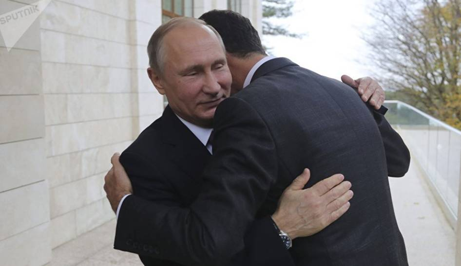 Breaking: Assad Tells Putin at Meeting: Syria Was Saved as a State Thanks to Russia