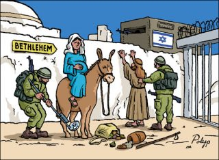 """<div><img width=""""320"""" height=""""234"""" src=""""https://www.veteranstoday.com/wp-content/uploads/2017/12/bethlehem-cartoon-mary-joseph-israeli-soldiers-320x234.jpg"""" alt=""""""""></div>By Kevin Barrett, Veterans Today Editor Every who down in Whoville liked Christmas a lot… But the Zionist haters of Jesus did not! Bethlehem, the birthplace of Jesus, is under hostile occupation. The Zionist occupiers loathe Jesus and reject his message. They regularly brutalize and kill peaceful protestors. The oppressed Christians of Bethlehem have been […]"""