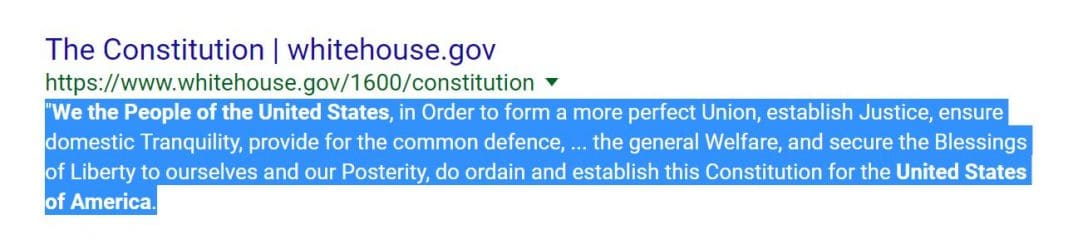 Constitution of United States.