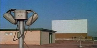Old drive in movie