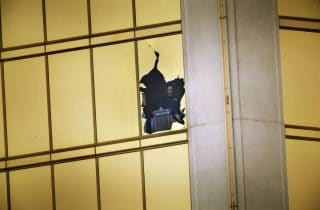 Admittedly, hotel staffers dragged a dozen or more weapons and thousands of rounds of ammunition to a room overlooking a well established soft-target event.