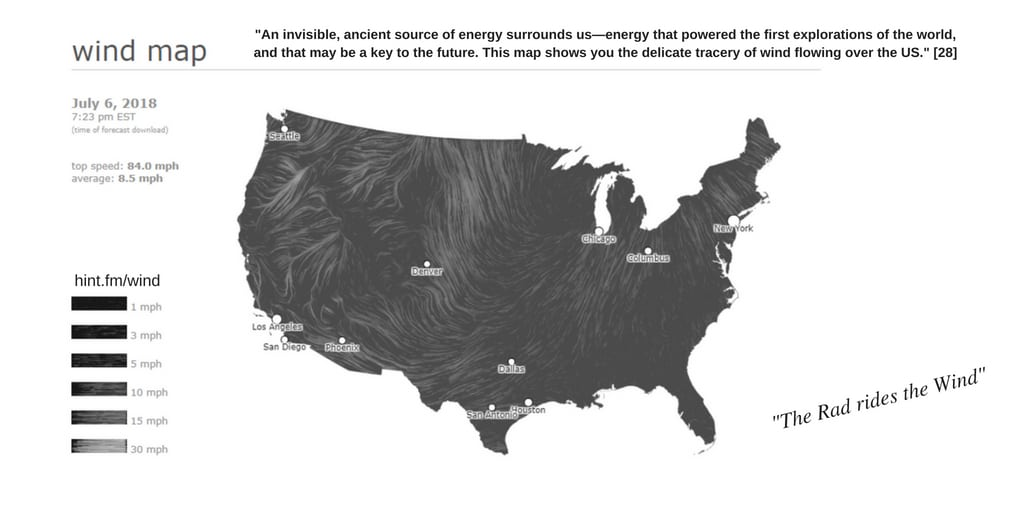 Wind Map 'cause The Rad Rides the Wind