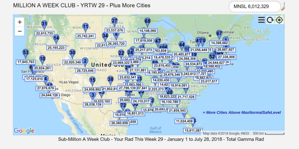 MILLION A WEEK CLUB YRTW 29 PLUS MORE CITIES