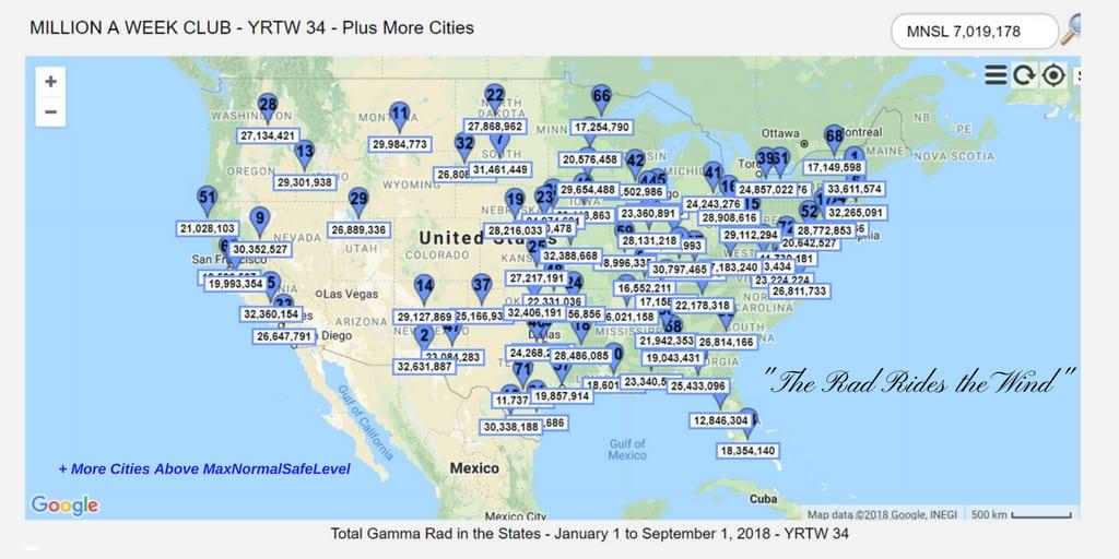 YRTW 34 - MILLION A WEEK CLUB - MAP -