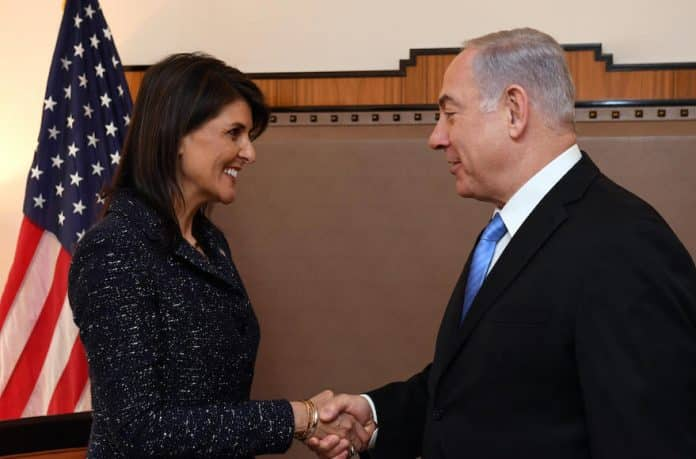 PM-Netanyahu-and-US-Amb.-to-the-UN-Nikki