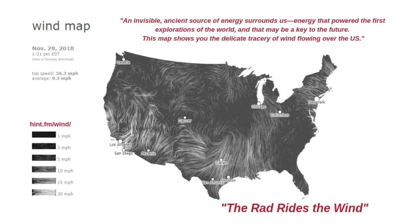 Million A Week Club - YRTW 46 - Plus More Cities - WIND MAP