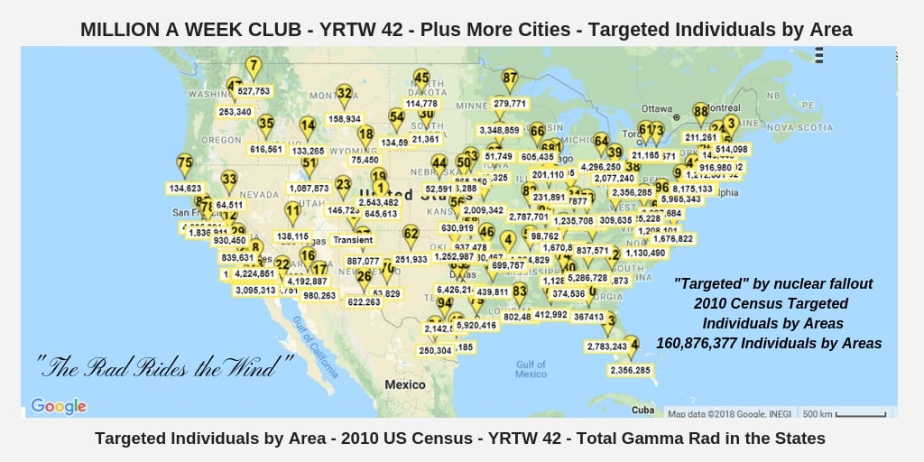 YRTW 42 - Million A Week Club - Targeted Population Area - 2010 US Census